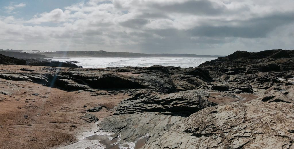 Rocky outcroppings at Godrevy