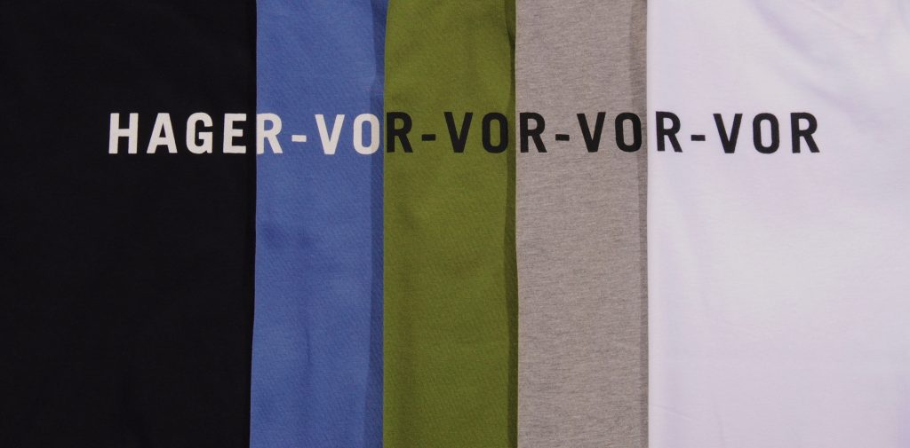 The Vor Text tee in all five colours