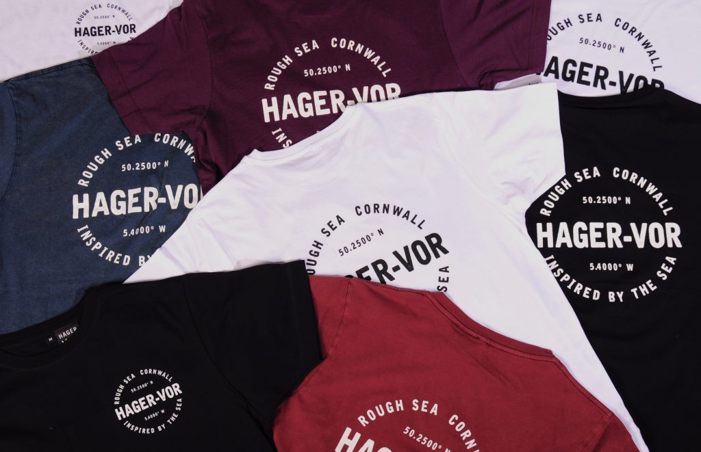 The Godrevy tees in all five colours