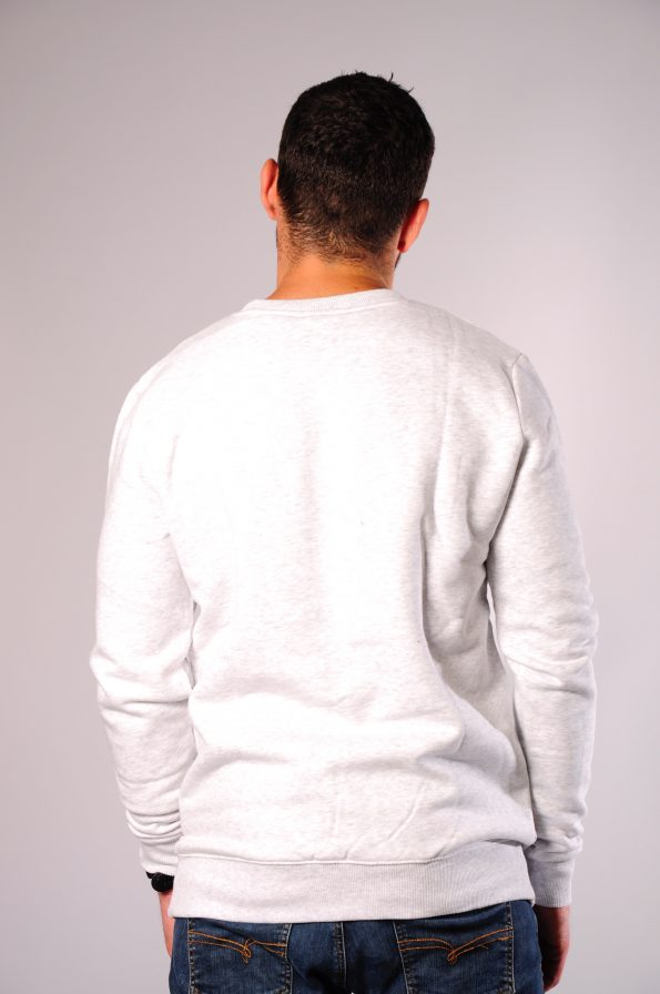 embroidered crew grey-b