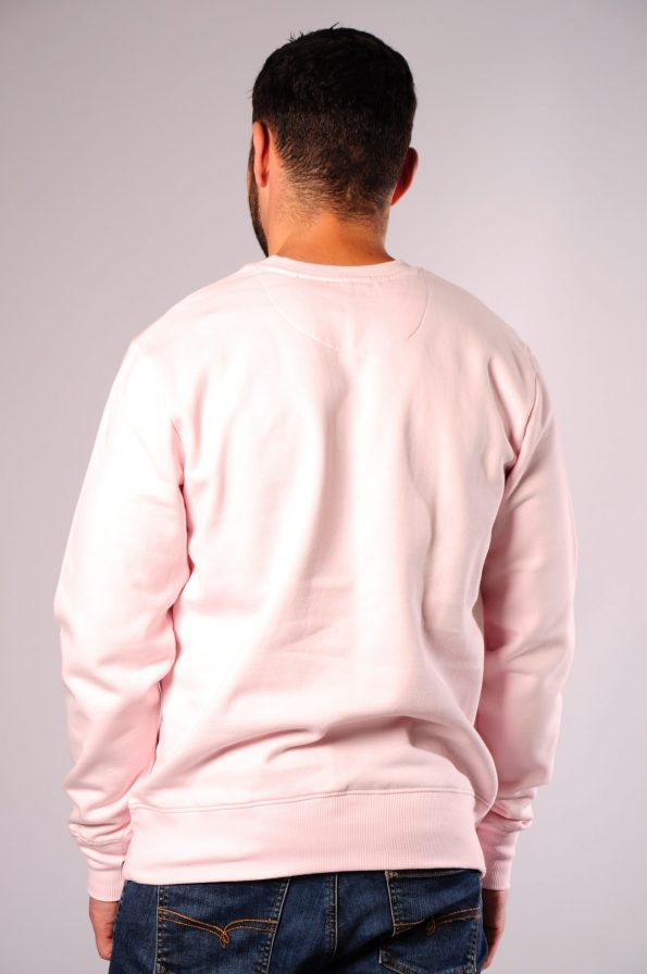 embroidered crew pink-b