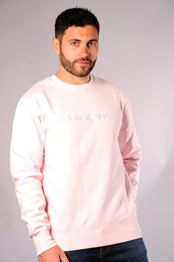embroidered crew pink-f